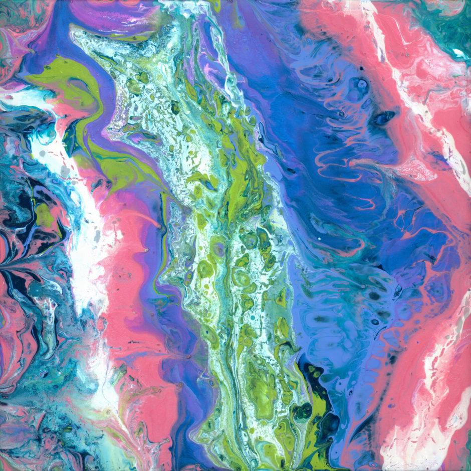 """Fluid Coral & Blue"""